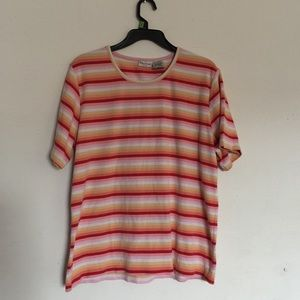 Vintage 70s Style Striped Tshirt